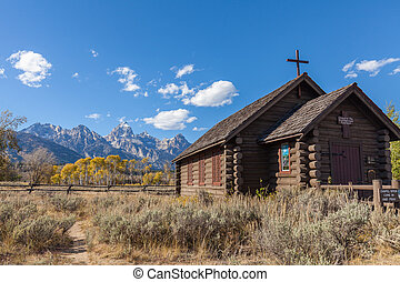 Chapel of the Transfiguration in Fall - the historic chapel...