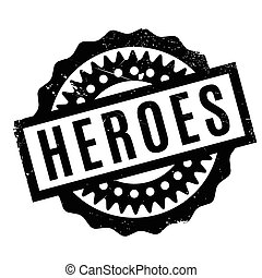 Heroes rubber stamp. Grunge design with dust scratches....