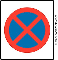 Clearway sign. Vector illustration - Clearway sign, no...