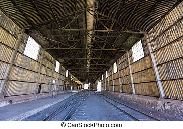 Old abandoned train station, border with Argentina and Chile...