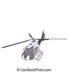 Solitary 3D rendered unmanned helicopter - One solitary 3D...