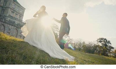 Wedding Couple Runing