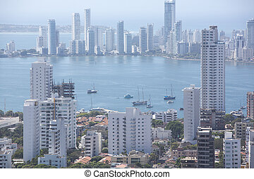 Bocagrande neighborhood of Cartagena - CARTAGENA, COLOMBIA,...