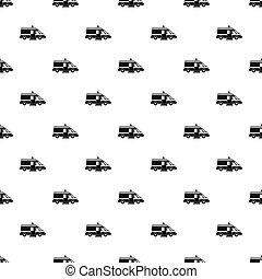 Ambulance pattern, simple style