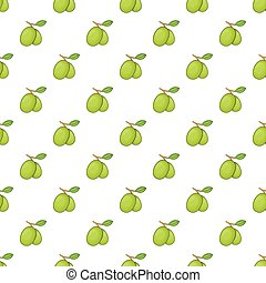 Olives branch with leaves pattern, cartoon style
