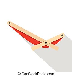 Recliner icon, flat style - Recliner icon. Flat illustration...