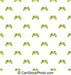 Game controller pattern, cartoon style