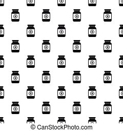 Treatment solution for animals pattern. Simple illustration...