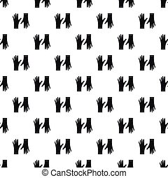 Rubber gloves pattern, simple style - Rubber gloves pattern....