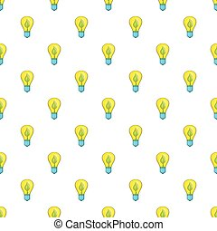 Light bulb with sprout pattern, cartoon style