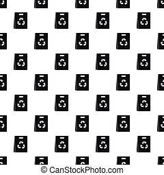 Recyclable plastic bag pattern, simple style - Recyclable...