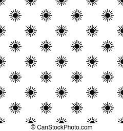 Sun pattern, simple style - Sun pattern. Simple illustration...