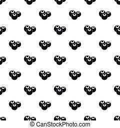 Blueberries pattern, simple style