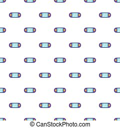 Portable video game console pattern, cartoon style