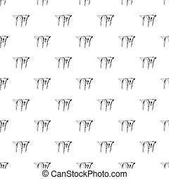 Icicles pattern, simple style