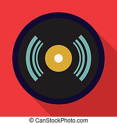 CD icon, flat style - CD icon. Flat illustration of cd...