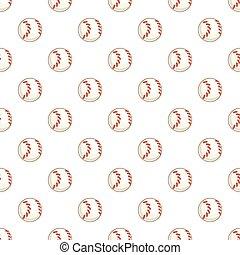 Baseball ball pattern, cartoon style