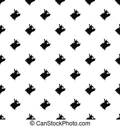 Pinscher dog pattern, simple style - Pinscher dog pattern....