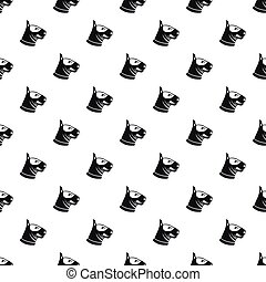 Bull terrier dog pattern, simple style - Bull terrier dog...