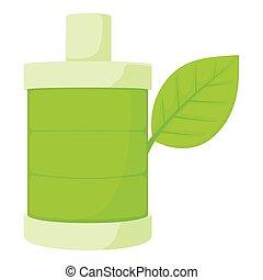 Eco bottle icon, cartoon style - Eco bottle icon. Cartoon...