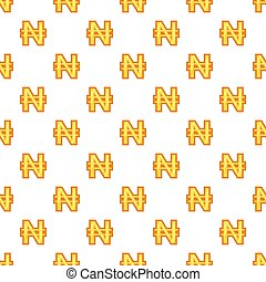 Nairas currency symbol pattern, cartoon style