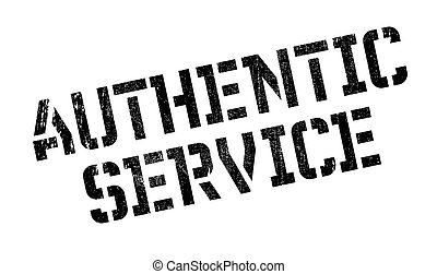 Authentic Service rubber stamp. Grunge design with dust...