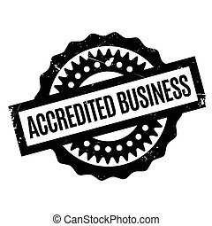 Accredited Business rubber stamp. Grunge design with dust...