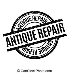 Antique Repair rubber stamp. Grunge design with dust...