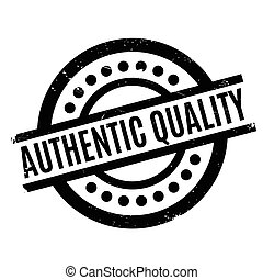 Authentic Quality rubber stamp. Grunge design with dust...