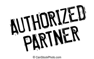 Authorized Partner rubber stamp. Grunge design with dust...