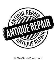 Antique Repair rubber stamp. Grunge design with dust...