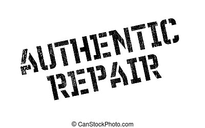 Authentic Repair rubber stamp. Grunge design with dust...
