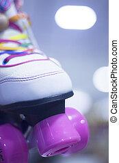 Rollerskates in skate store - Childrens quad skate...