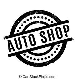 Auto Shop rubber stamp. Grunge design with dust scratches....