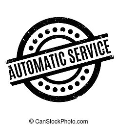 Automatic Service rubber stamp. Grunge design with dust...