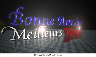 Happy New Year Greeting in French Language - Happy New Year...