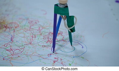 Hand made Robot felt pen. - Hand made Robot felt pen