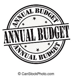 Annual budget sign or stamp - Annual budget grunge rubber...