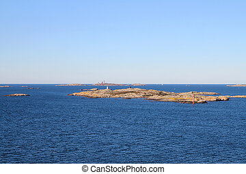 Gothenburg Archipelago in Sweden - small rocky islands in...