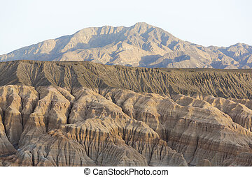 Rodeo and geological rock formations, Argentina - Sunset on...