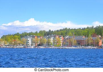 View of Lappeenranta city and Saimaa lake. Lappeenranta -...