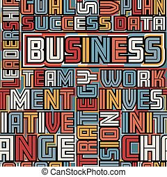 Business words seamless tile - Colorful vector seamless tile...