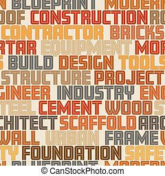 Construction words seamless tile - Vector seamless tile of...