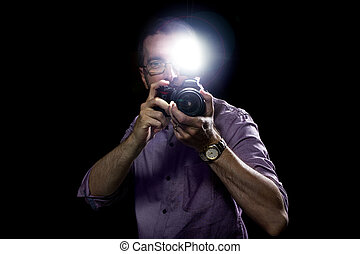 Paparazzi or Editorial Photographer - Male paparazzi or...