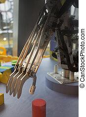 tecnologia, futuro, nero, protesico, mano