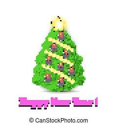 Christmas tree and golf balls