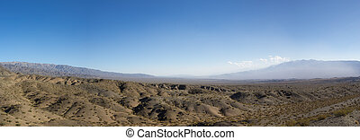 Pampa El Leoncito National Park and clear blue sky,...