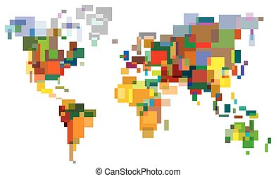 World InColor - Many-Colored World. Color bright decorative...