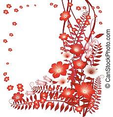 Delicate floral onWhite