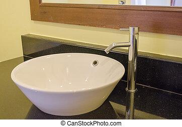 bathroom washbasin - Modern bathroom with washbasin